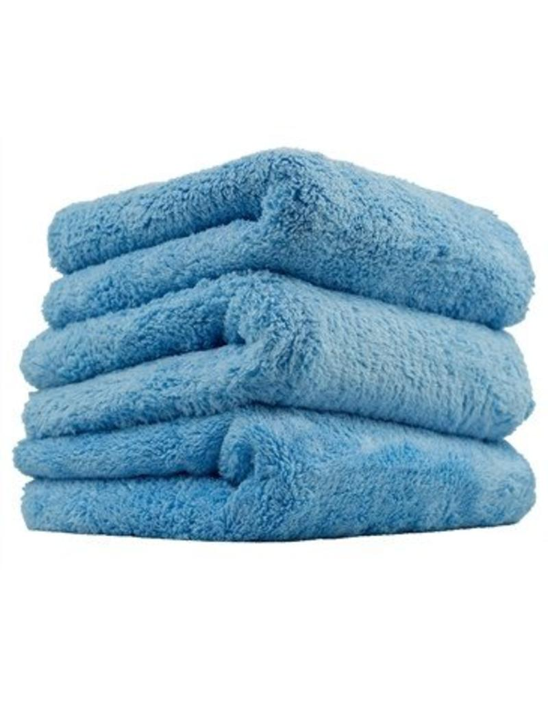 Happy Ending Edgeless Microfiber Towel, Blue, 16'' x 16'', (3 Pack)