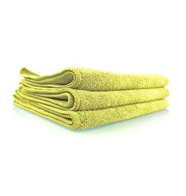 "Workhorse Yellow Professional Grade Microfiber Towel, 16"" x 16"" (Interior), 3 Pack"
