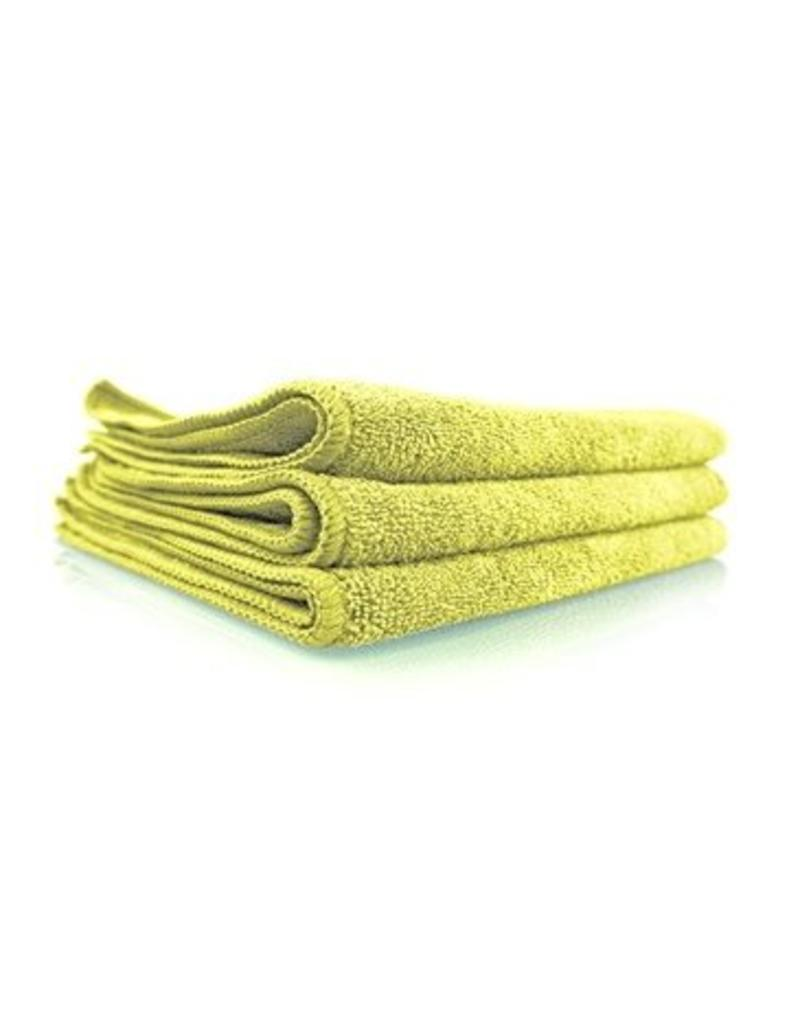 Workhorse Yellow Professional Grade Microfiber Towel, 16'' x 16'' (Interior), 3 Pack