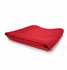 Glass and Window Waffle Weave Towel, Red 24'' x 16''