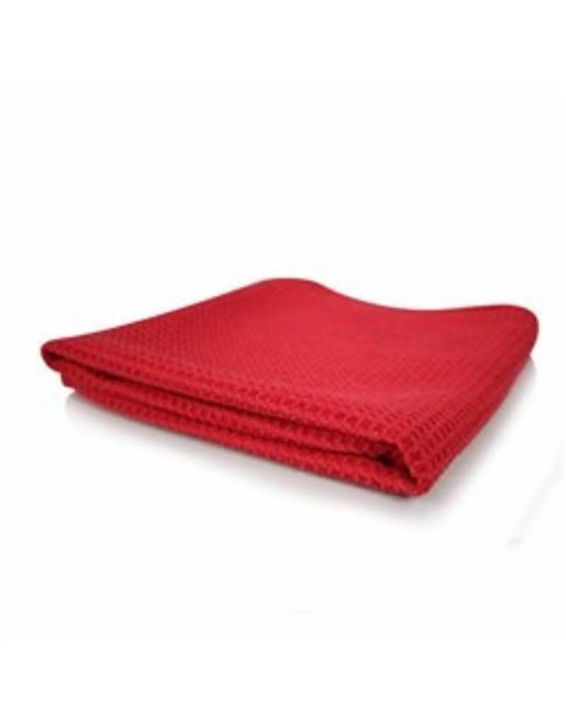 "Glass and Window Waffle Weave Towel, Red 24"" x 16"""