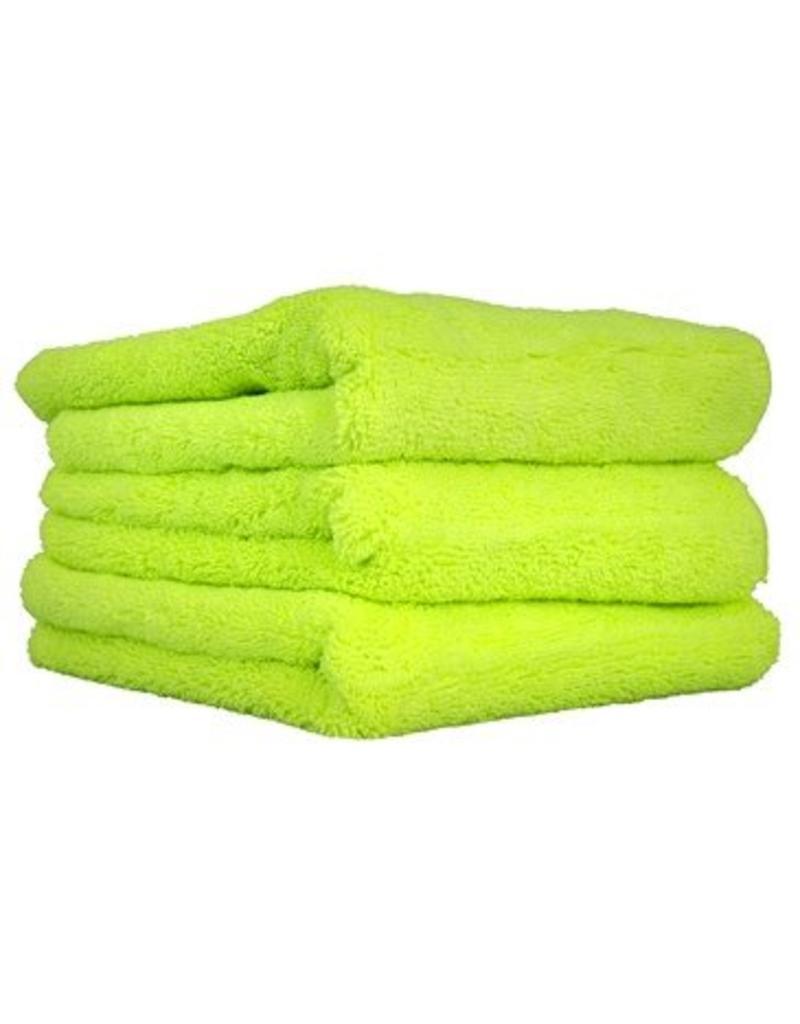 """El Gordo Professional Extra Thick Supra Microfiber Towels, Green 16.5"""" x 16.5"""""""