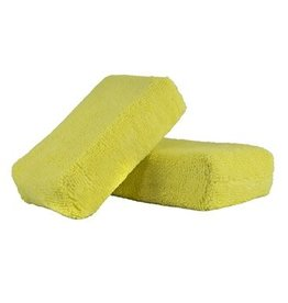 "Workhorse Yellow Premium Grade Microfiber Applicator, (Interior) 5"" x 3"" x 1.5"" (2 Pack)"