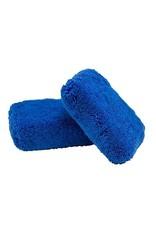 Monster Fluff Exterior Premium Microfiber Applicator, Blue, 3'' x 5'' x 2'' (2 Pack)