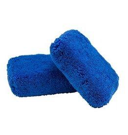 "Monster Fluff Exterior Premium Microfiber Applicator, Blue, 3"" x 5"" x 2"" (2 Pack)"