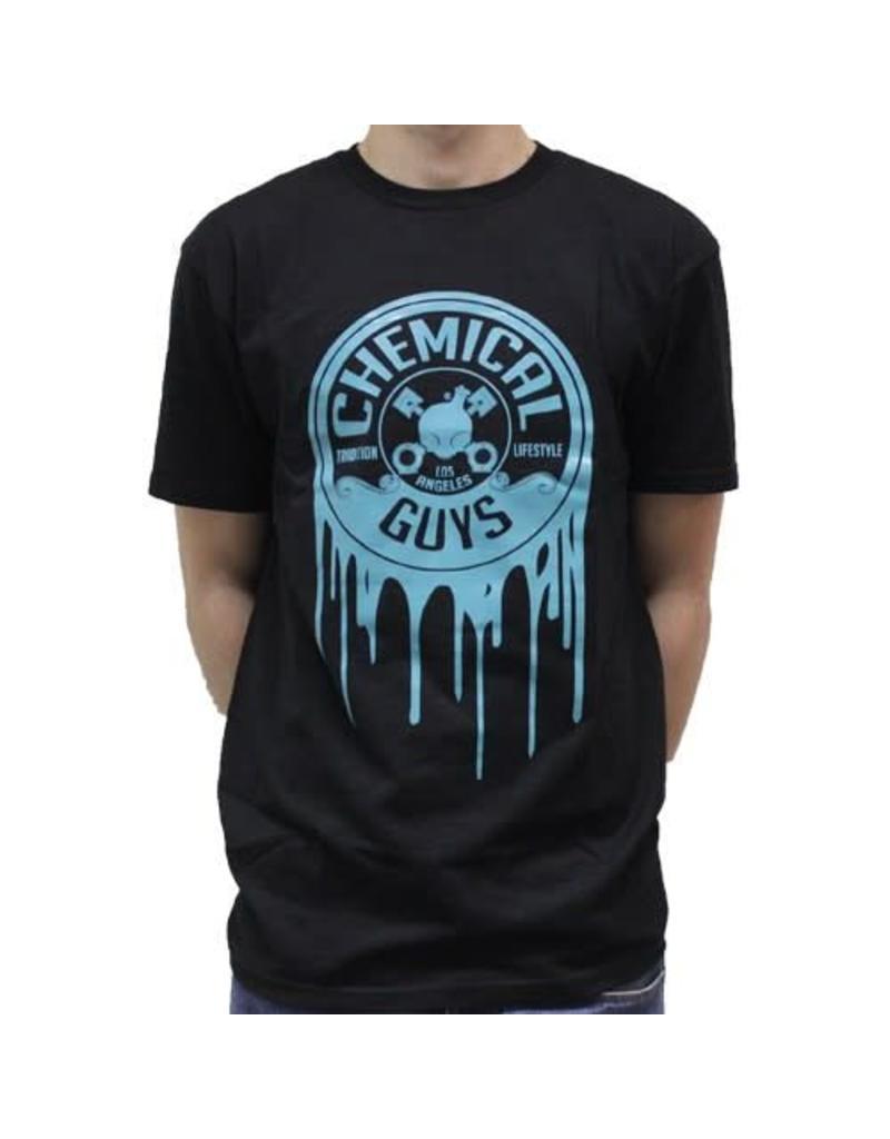 Chemical Guys SEMA 2016 Turqouise Dripping Logo Shirt Large