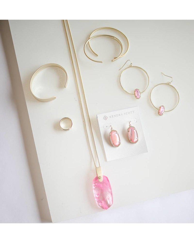 Inez Necklace- Gold Blush MOP