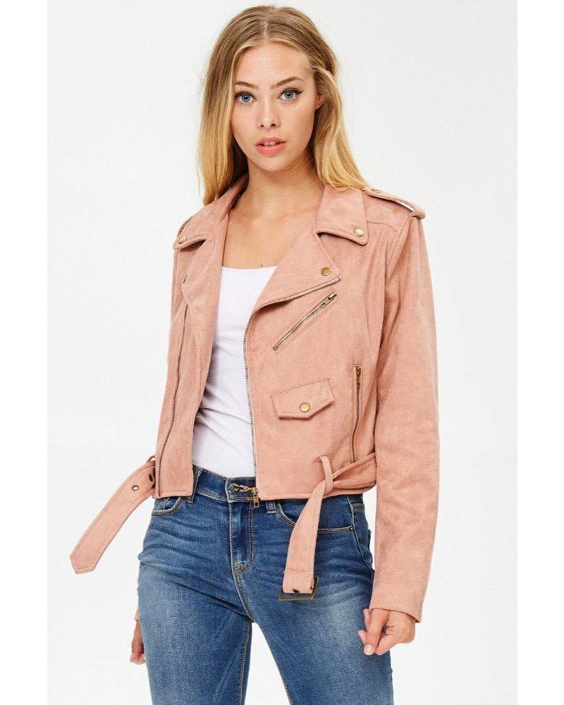 Dusty Rose Moto Jacket