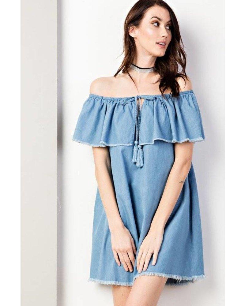 Eden Distressed Denim Dress