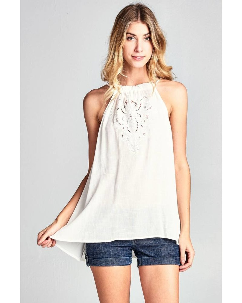 Hudson Embroidered Tank
