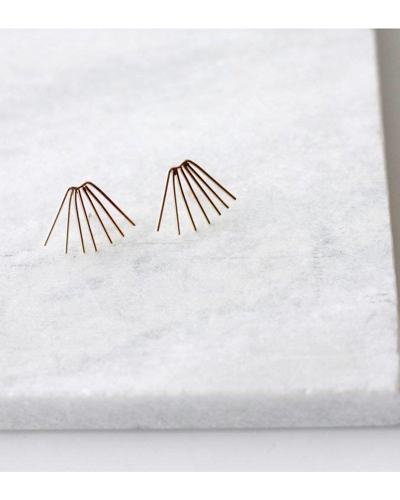 Fanned Bar Earrings