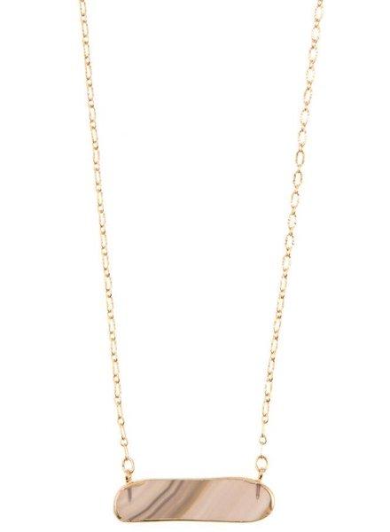 Cleo Stone Pendant Necklace- Gray