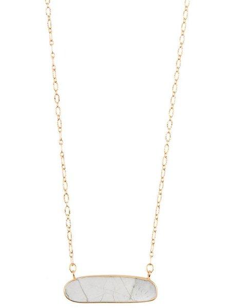 Cleo Stone Pendant Necklace- White