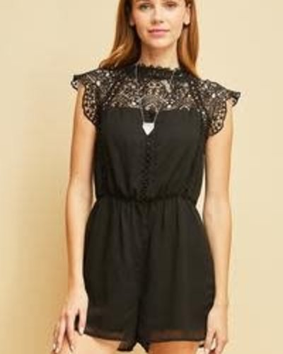 82e734d41c80 Lyssah Lace Romper - Silver Steer and Co
