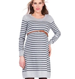 Seraphine Ella Striped Cotton Knitted Maternity & Nursing Dress