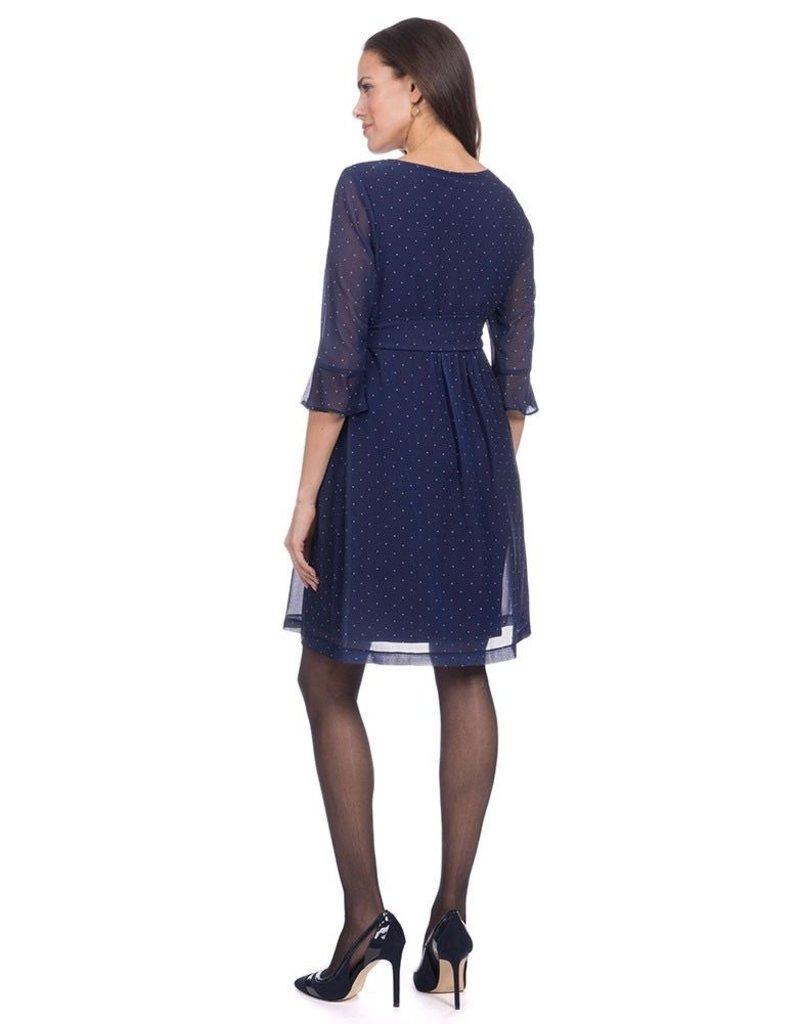 6fd106f7b362f Seraphine Dorothea Pleated Maternity & Nursing Dress - Steveston ...
