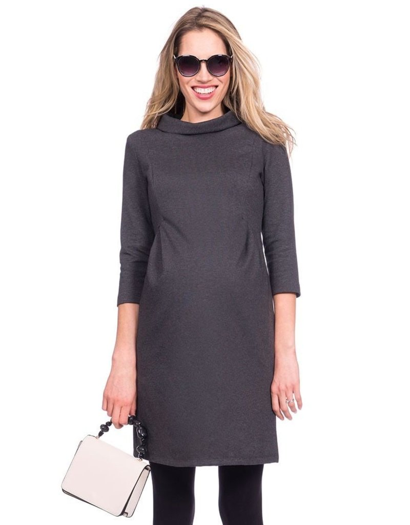 e7341a82c3b59 Seraphine Joelle Funnel Neck Maternity Dress - Steveston Village ...