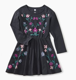 Tea Collection Velour Ruffle Dress for Girl