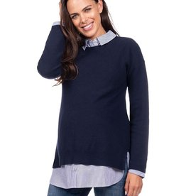 Seraphine Emily, 2 in 1 Navy Maternity & Nursing Sweater