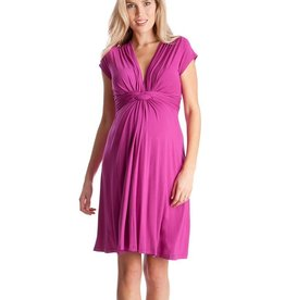Seraphine Jolene, Short Sleeve Knot Front Maternity Dress