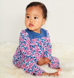 Tea Collection Bluberries Wrap Neck Romper for Baby Girl