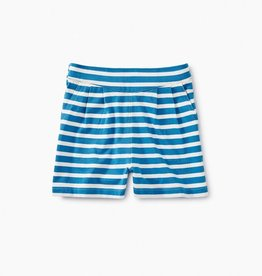 Tea Collection Striped Dock Shorts in Lagoon for Girl
