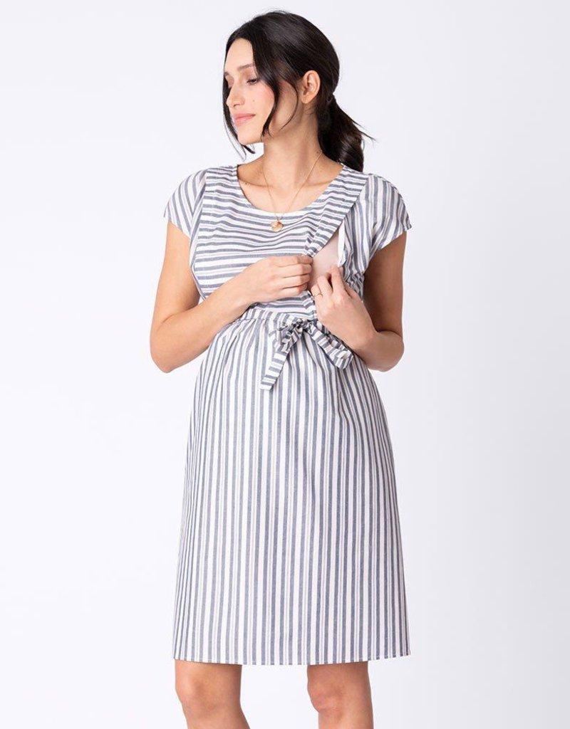 f492e4ab64383 Seraphine Presley Cotton Stripe Maternity & Nursing Dress ...