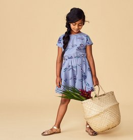 Tea Collection Ikat Striped Keyhole Dress for Girl