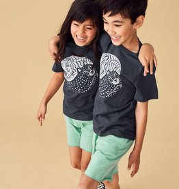 Tea Collection Yin Yang Cat Graphic Tee For Children