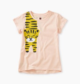 Tea Collection Tiger Turn Graphic Tee For Girl