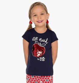 "Mayoral Short Sleeve ""All You Need is Love"" T-Shirt for Girl"