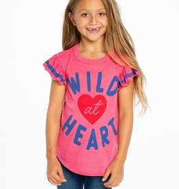 Chaser Brand Wild at Heart Shirttail Tee for Girl
