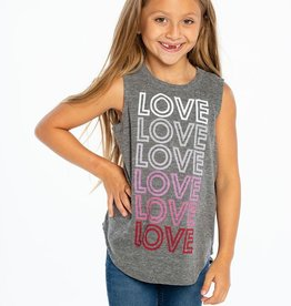 Chaser Brand Love!! Shirttail Muscle Tank for Girl