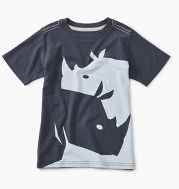 Tea Collection Yin Yang Rhino Graphic Tee for Boy