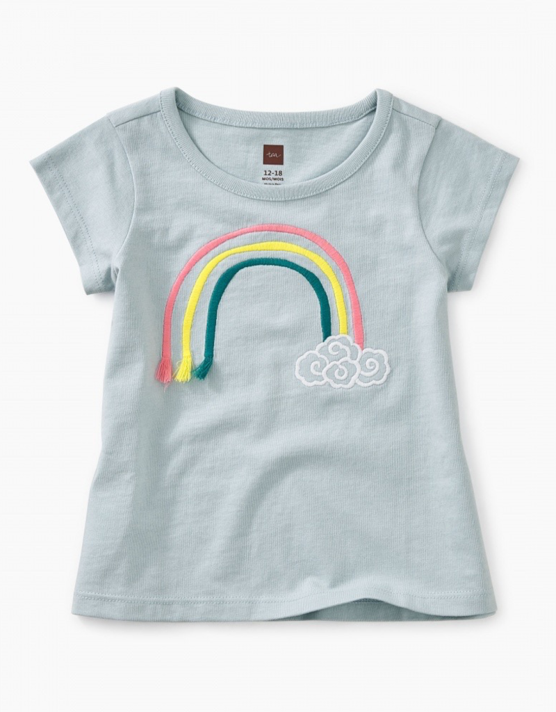 Tea Collection 3D Rainbow Baby Graphic Tee for Baby Girl