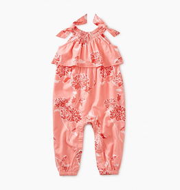 Tea Collection Tie Shoulder Romper for Baby Girl