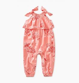 Tea Collection Tie Shoulder Romper for Baby Girl