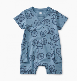 Tea Collection Bicycle Print Romper for Baby Boy