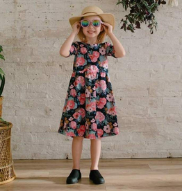 Little and Lively Floral Daphne Twirl Dress for Girl