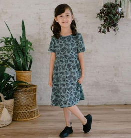 Little and Lively Palm Leaf Daphne Twirl Dress for Girl