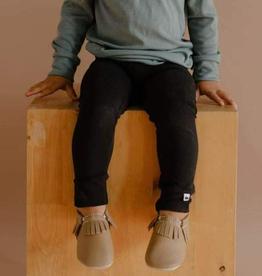 Black Bamboo/Cotton Leggings for Kids