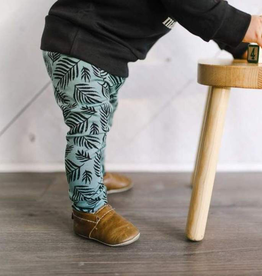 Little and Lively Palm Leaf Bamboo/Cotton Leggings for Kids