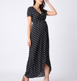 Seraphine Daisy, Woven Maternity Maxi Wrap Dress
