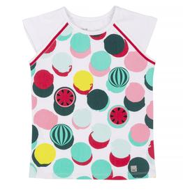 Deux Par Deux Watermelon Printed T-Shirt for Girl