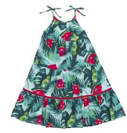 Deux Par Deux Watermelon Print Mid-Calf Length Dress for Girl
