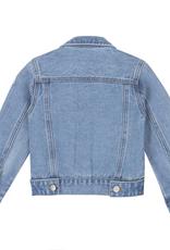Deux Par Deux Blue Jean Jacket With Funny Patches for Girl