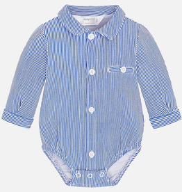 Mayoral Long Sleeved Bodysuit with Shirt Collar for Baby Boy