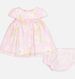 Mayoral Floral Patterned Dress with Knickers for Baby Girl