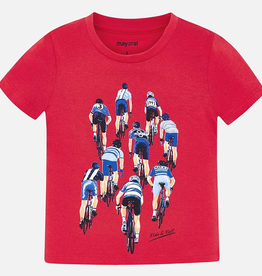 Mayoral Short Sleeved Cyclists Print T-shirt for Boy