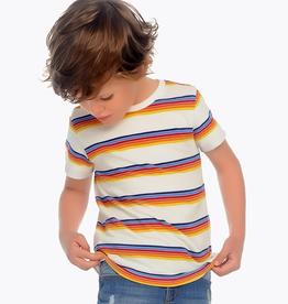 Mayoral Short Sleeved Striped T-shirt for Boy